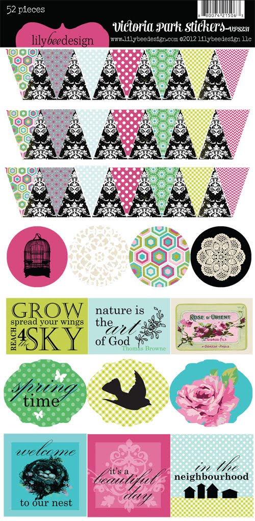 Victoria Park Mixed Cardstock Stickers