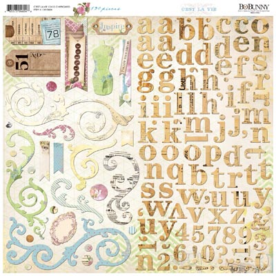 13815604 12x12 Chipboard cestlavie