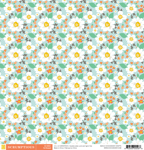 Scrumptious-12x12-Paper-01A-Fall-Bouquet