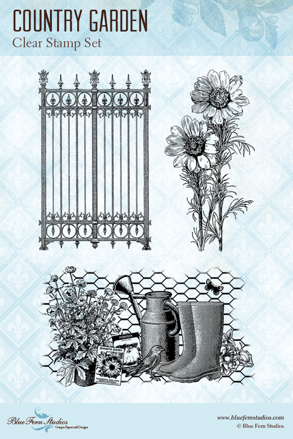 BFS country garden stamp preview